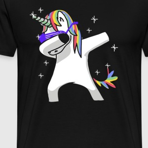 Dabbing Unicorn Shirt Dab Hip Hop Funny Magic - Men's Premium T-Shirt