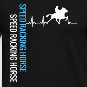 My heart beats with my horse - Men's Premium T-Shirt