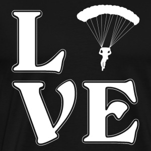 I love parachuting - skydiving - Men's Premium T-Shirt