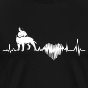 Bull Terrier Heartbeat Shirt - Men's Premium T-Shirt