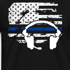 911 Dispatcher Flag Shirt - Men's Premium T-Shirt