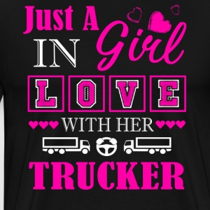 Girl In Love With Her Trucker Shirt - Men's Premium T-Shirt