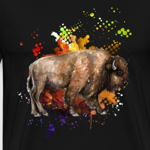 Love Yak Watercolor Shirt - Men's Premium T-Shirt