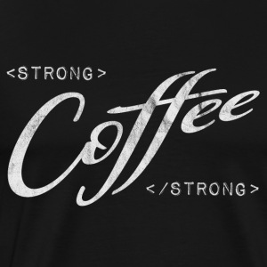 strong coffee black espresso coder programming - Men's Premium T-Shirt