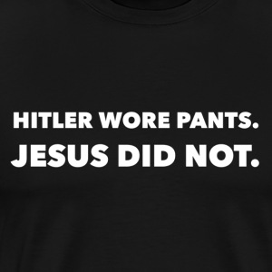 Hitler and Jesus - Men's Premium T-Shirt