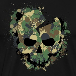 Camouflaged Skull - Men's Premium T-Shirt