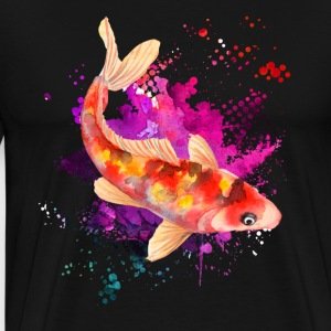 Koi Watercolor Shirts - Men's Premium T-Shirt
