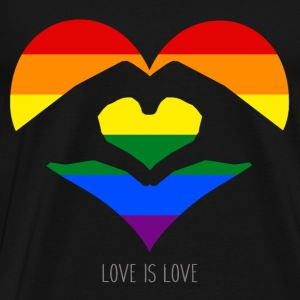 Love Is Love LGBT Rainbow Heart - Men's Premium T-Shirt