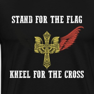 Stand for the flag Belgium kneel for the cross - Men's Premium T-Shirt