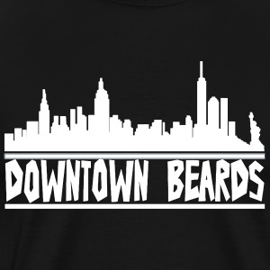 Downtown Beards - Men's Premium T-Shirt