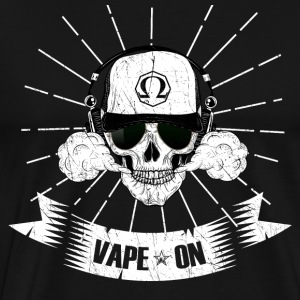 Vape Skull Vape On - Vaping Vaper Vapor Subohm - Men's Premium T-Shirt