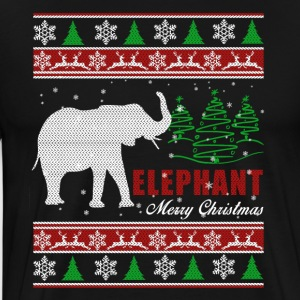 Elephant Shirt - Elephant Christmas Shirt - Men's Premium T-Shirt