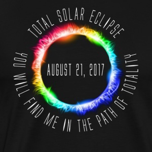 Color Total Solar Eclipse 2017 - Men's Premium T-Shirt