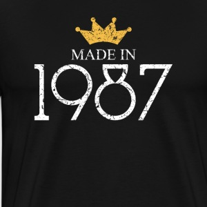 Made In 1987 30 Years Being Awesome - Men's Premium T-Shirt