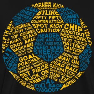 Soccer Ball Typography Blue - Men's Premium T-Shirt