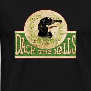 Adorable Christmas Dachshund - Men's Premium T-Shirt