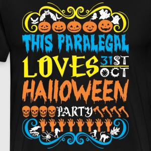 This Paralegal Loves 31st Oct Halloween Party - Men's Premium T-Shirt