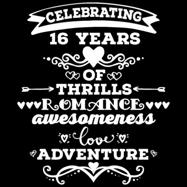 16th Wedding Anniversary.2nd Wedding Anniversary Gift Is Cotton Men S Tall T Shirt Black