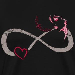 Infinite Love ∞ I Love Music ∞ Singing Woman - Men's Premium T-Shirt