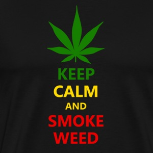 Keep Calm and Smoke - Men's Premium T-Shirt