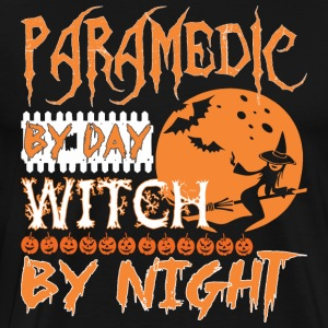 Paramedic By Day Witch By Night Halloween - Men's Premium T-Shirt