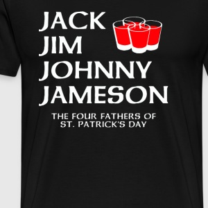 The four fathers of St Patricks Day - Men's Premium T-Shirt