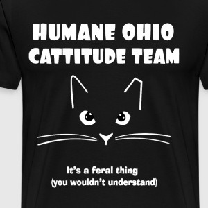 Humane Ohio Cattitude - Men's Premium T-Shirt