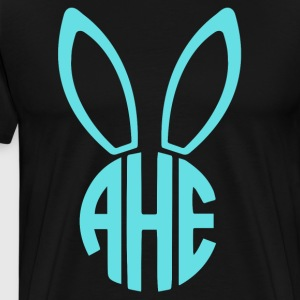Easter Bunny Monogram - Men's Premium T-Shirt