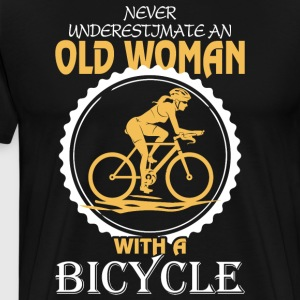 Old Woman With A Bicycle T Shirt - Men's Premium T-Shirt