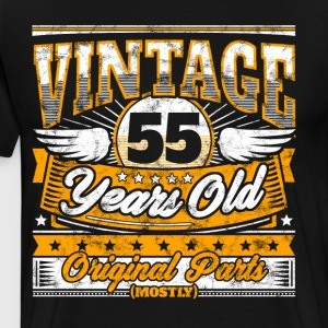 Funny 55th Birthday Shirt: Vintage 55 Years Old - Men's Premium T-Shirt