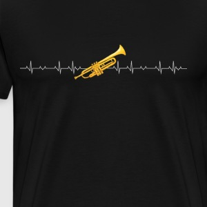 Trumpet heartbeat - Men's Premium T-Shirt