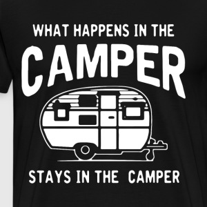 What happens in the camper stays in the camper - Men's Premium T-Shirt