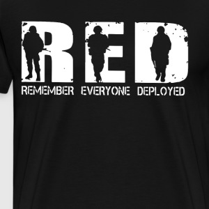 Red Remember Everyone Deployed veteran - Men's Premium T-Shirt