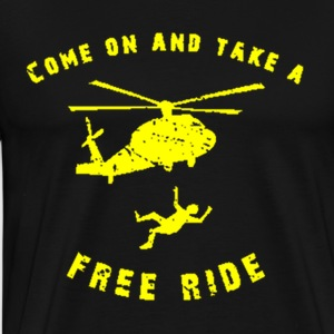 Free Helicopter Ride - Men's Premium T-Shirt