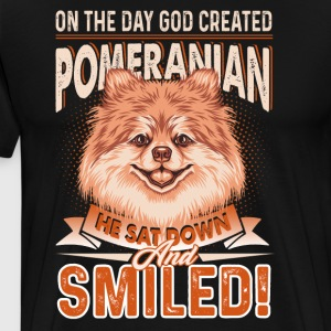 Pomeranian Shirt - God Created Pomeranian Shirt - Men's Premium T-Shirt