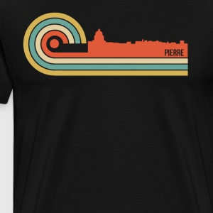Retro Style Pierre South Dakota Skyline - Men's Premium T-Shirt