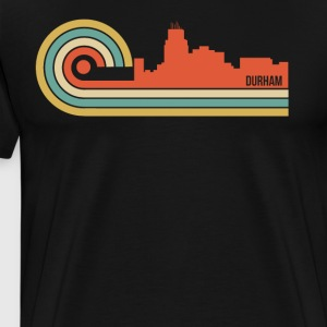 Retro Style Durham North Carolina Skyline - Men's Premium T-Shirt