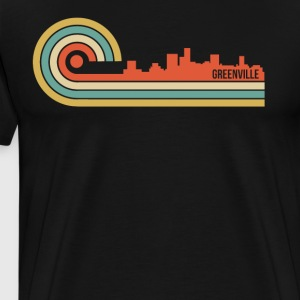 Retro Style Greenville South Carolina Skyline - Men's Premium T-Shirt
