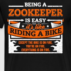 Zookeeper Shirt: Being A Zookeeper Is Easy - Men's Premium T-Shirt