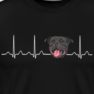 Heartbeat American Stafford Pitbull - Men's Premium T-Shirt