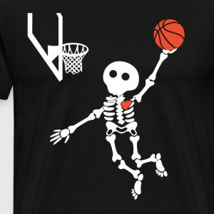 basketball skeleton halloween shirt - Men's Premium T-Shirt