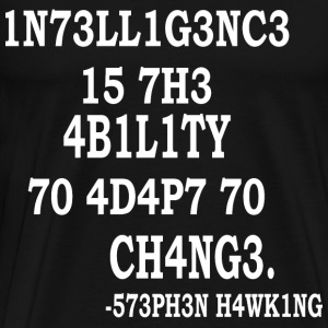 Stephen Hawking Intelligence - Men's Premium T-Shirt