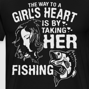 The way to a girl s heart is by taking her fishing - Men's Premium T-Shirt