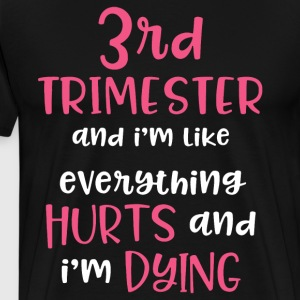 3rd trimester and i m like everything hurts and i - Men's Premium T-Shirt
