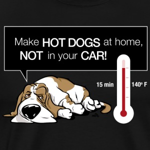 Hot dog in car - Men's Premium T-Shirt