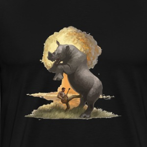 Rhino kicked in the balls - Men's Premium T-Shirt