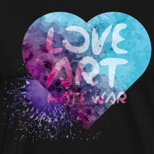 Love Art Hate War Heart - Men's Premium T-Shirt