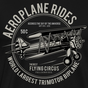 Aeroplane Rides. Retro Flying Circus Fan Shirt! - Men's Premium T-Shirt