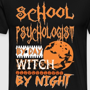 Psychologist By Day Witch By Night Halloween - Men's Premium T-Shirt