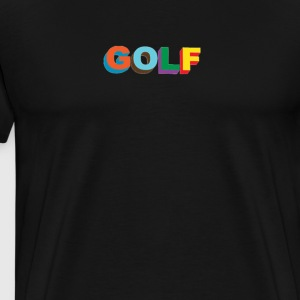 Multi color 3D Golf Wang - Men's Premium T-Shirt